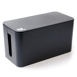 Bluelounge CableBox Mini Schwarz, Box zum Verstauen des Kabelgewirrs