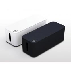 Bluelounge CableBox Schwarz oder Weiss, Box zum Verstauen des Kabelgewirrs